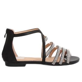 Black sandal pentru femei LL6339 Negru