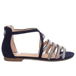 Sandale pentru femei maro albastru LL6339 Albastru bleumarin