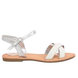 Gri Sandale de argint pentru femei WL282 Silver