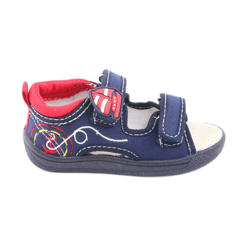 Sandale pentru copii American Club bleumarin TEN36 roșu albastru marin