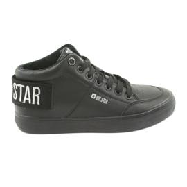 Pantofi mari negri Big Star 274351 negru