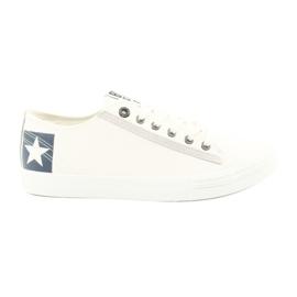 Big Star Big jumătate cizme de culoare albă 174074