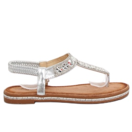Sandale de argint ZY163 Argint gri