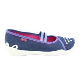 Încălțăminte pentru copii Befado 116Y253 albastru marin albastru roz