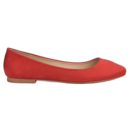 Small Swan roșu Red Suede Ballerina