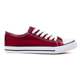 SHELOVET Adidasi din Burgundia roșu