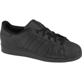 Negru Adidas Superstar J Fundația Jr B25724 pantofi
