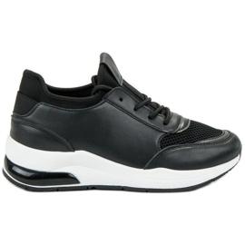 Ideal Shoes negru Pantofi sport pentru femei
