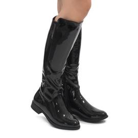 Negru cizme vopsite W-92