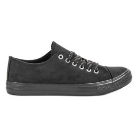 McKey negru Pantofi negri confortabili
