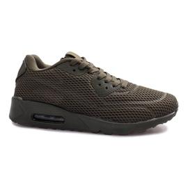 Verde Pantofi sport negri reticulat