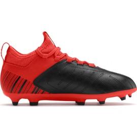 Cizme de fotbal Puma One 5.3 Fg Ag JR105657 01 negru roșu