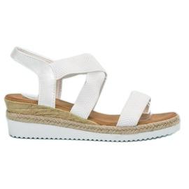 Bello Star alb Slip sandale Espadrilles