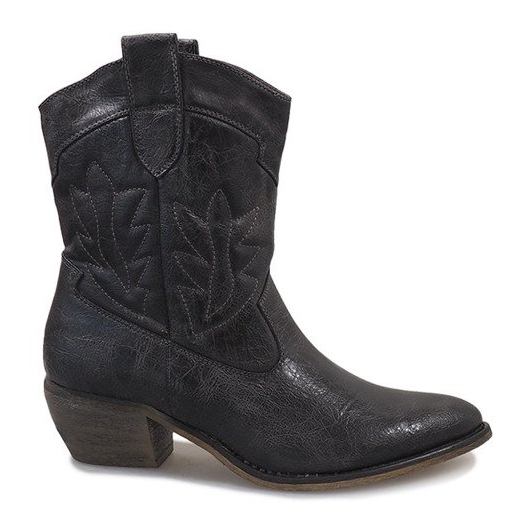 Cizme de cowgirl gri 10601-1