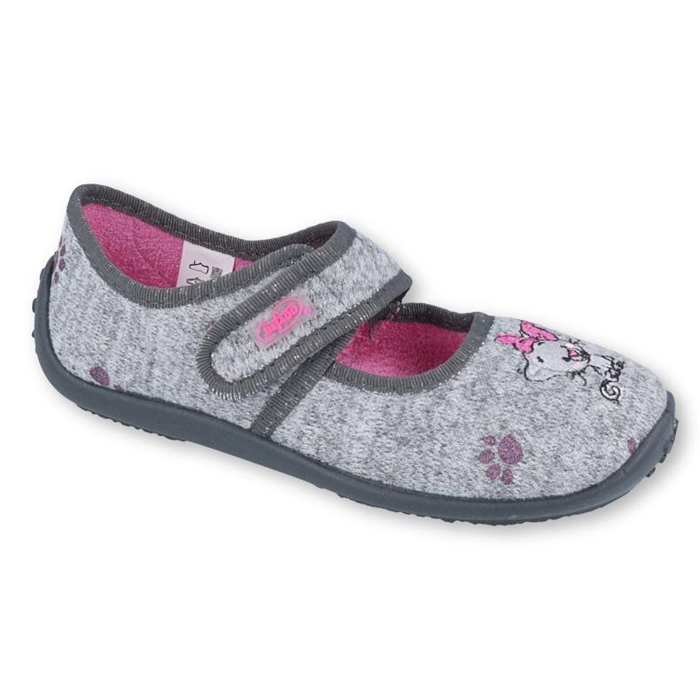 Încălțăminte pentru copii Befado 945Y368 roz gri