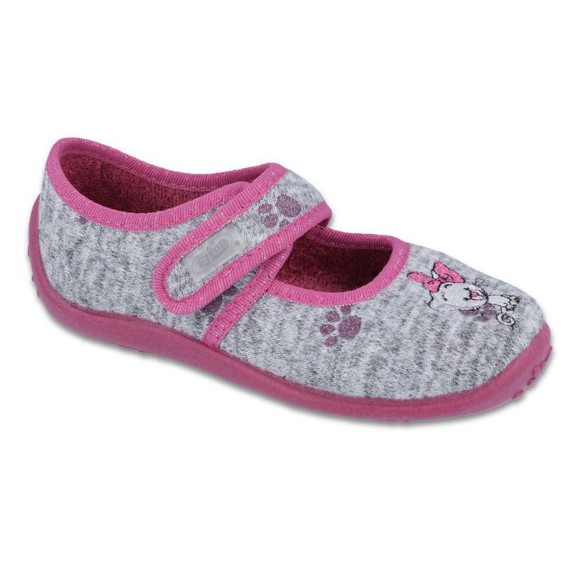 Încălțăminte pentru copii Befado 945Y369 roz gri