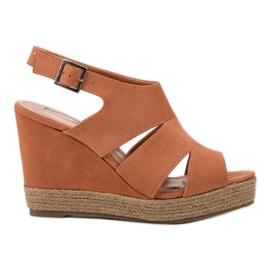 Best Shoes portocaliu Sandale de espadrilă portocalie