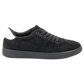 Ideal Shoes negru Încălțăminte neagră de dantelă