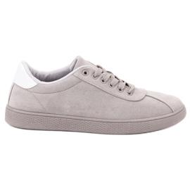 Ideal Shoes Încălțăminte din dantelă gri
