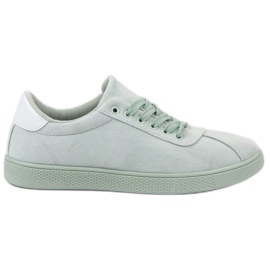 Ideal Shoes Pantofi cu dantelă Mint verde