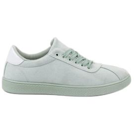 Ideal Shoes verde Pantofi cu dantelă Mint