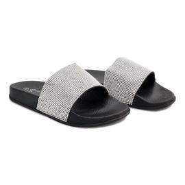 Gri Papuci lucioși cu paiete SL-32 negru