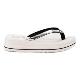 SHELOVET Pe șlapi Heels Wedge alb
