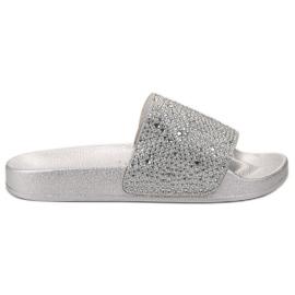Evento gri Papuci de argint pentru femei