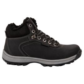 Ax Boxing negru Pantofi de trekking izolați
