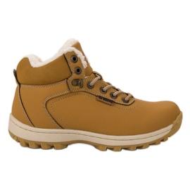 Ax Boxing Pantofi de trekking izolați galben
