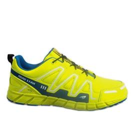 Galben Pantofi sport Sneakers RS82716-4M VERDE / ALBASTRU
