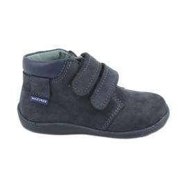 Pantofi pentru băieți cu velcro Mazurek 341 albastru bleumarin