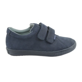 Pantofi pentru băieți Velcro Mazurek 268 albastru bleumarin