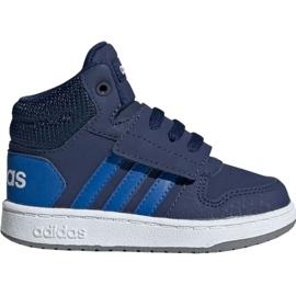 Bleumarin Pantofi pentru copii Adidas Hoops Mid 2.0 EE6714