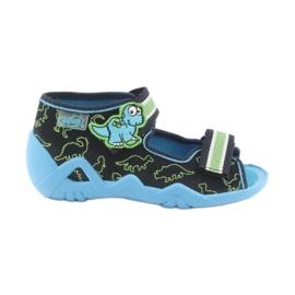 Încălțăminte pentru copii Befado verde 250P088 albastru marin albastru