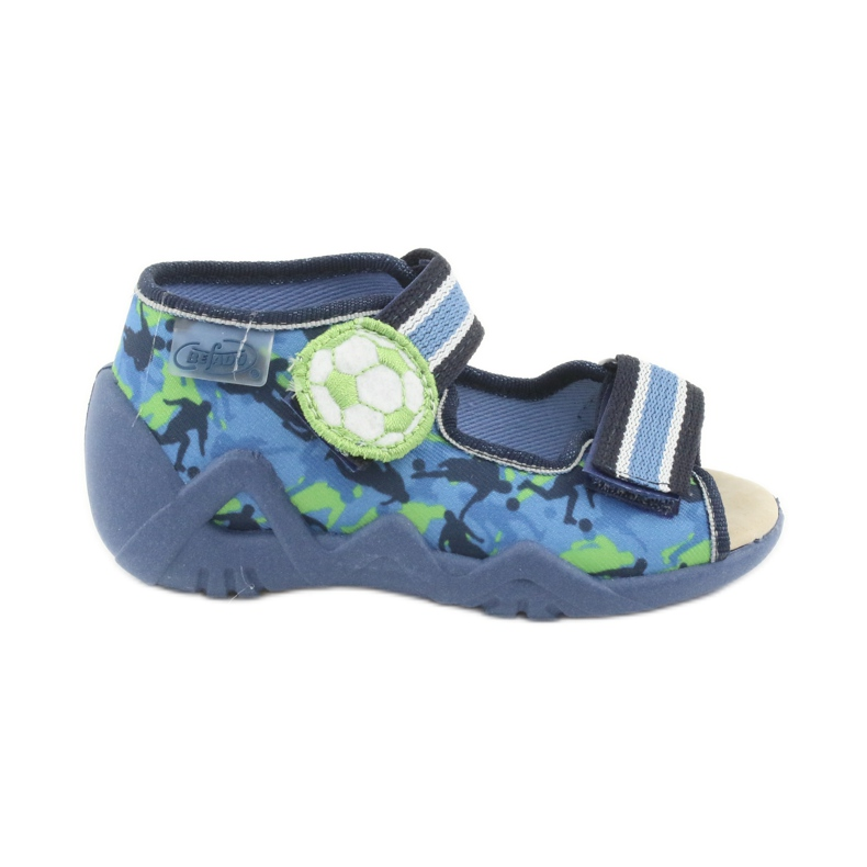 Pantofi pentru copii Befado galbeni 350P002 albastru marin albastru verde