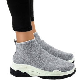 Pantofi sport gri cu elastic LA33P