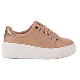 Kylie Pantofi sport pe platformă maro