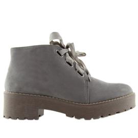 Cizme pentru femei cizme gri LL219 Gri