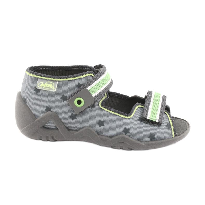 Pantofi pentru copii Befado galbeni 250P086 gri verde