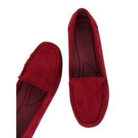 Roșu Loafers pentru femei visiniu R812-1 Vin