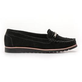Filippo negru Loafere din piele confortabile