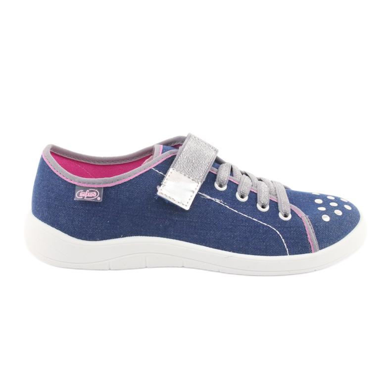 Încălțăminte pentru copii Befado 251Q109 albastru roz gri