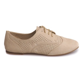 Pantofi Jazz Openwork Low 219 Bej maro