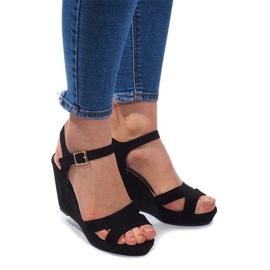 Sandale cu fustă C-012 Negru