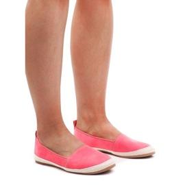 Espadrilele din piele de căprioară 889-103 roz