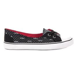 J. Star Pantofi negri mici negru