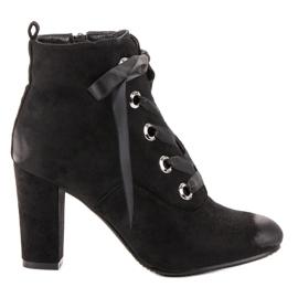 Vinceza Cizme de piele neagră negru