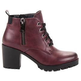 Vinceza Cizme cu glezna joasa roșu
