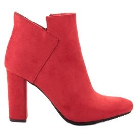 Vinceza Cizme sexy din piele de căprioară roșu